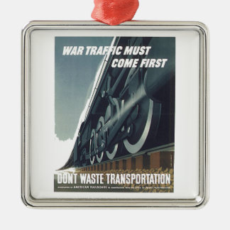 Kriegs-Verkehr muss kommen erstes WW-2 Silbernes Ornament