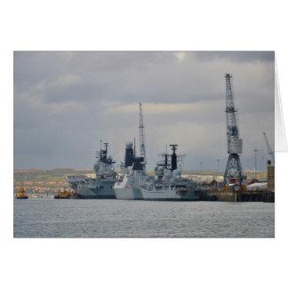 Kriegsschiffe in Portsmouth Grußkarte
