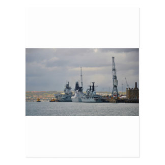Kriegsschiffe in Portsmouth Postkarten