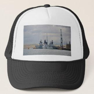Kriegsschiffe in Portsmouth Truckerkappe
