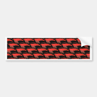 Krill-Muster im Schwarzen Autoaufkleber