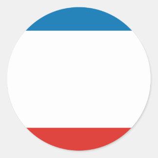 Krim-Flagge Runder Aufkleber