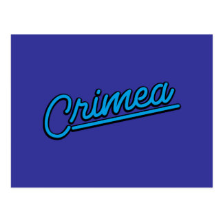 Krim in Cyan-blauem Postkarte