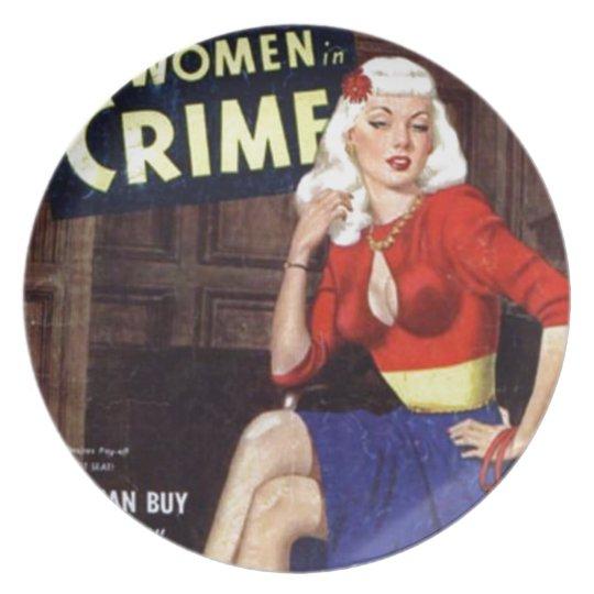 Kriminelle Blondine Melaminteller