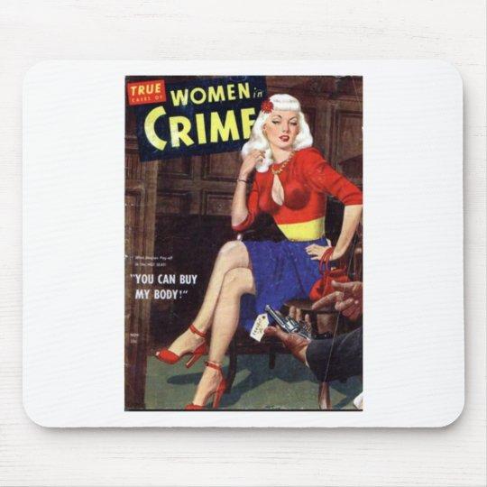 Kriminelle Blondine Mousepad