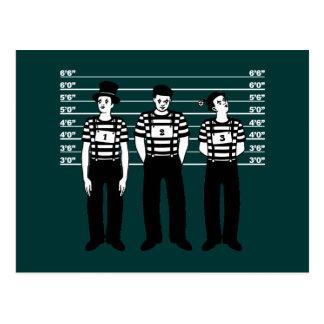Kriminelle Pantomimen Postkarte