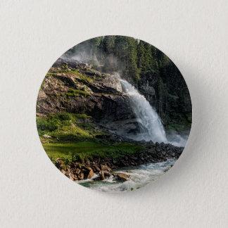 krimml Wasserfall, Österreich Runder Button 5,7 Cm