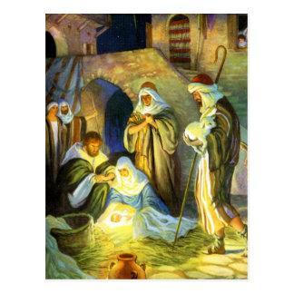 Krippen-Jesus-Postkarten-Weihnachten Postkarte