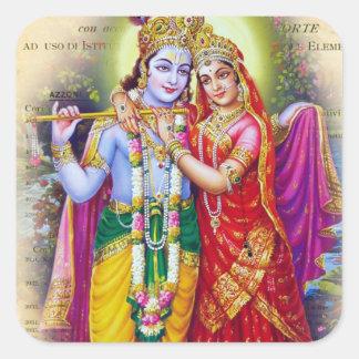 Krishna Quadrataufkleber