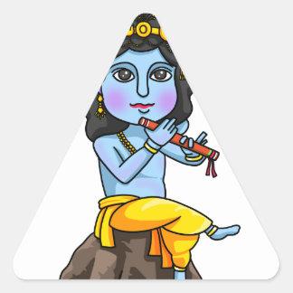 Krishna Dreieckiger Aufkleber