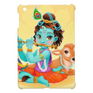 Krishna indischer Gott, der Flötenillustration iPad Mini Hülle
