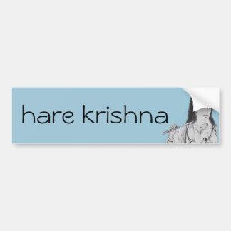 Krishna mit Flöte Autoaufkleber