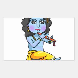 Krishna Rechteckiger Aufkleber