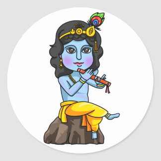 Krishna Runder Aufkleber