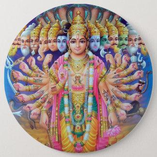 Krishna Vishvarupa Knopf Runder Button 15,3 Cm