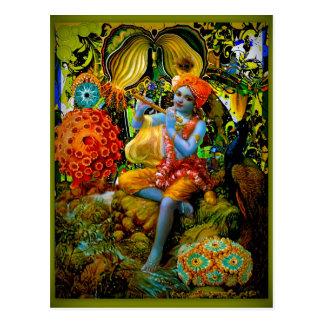 Krishnas Flöte Postkarte