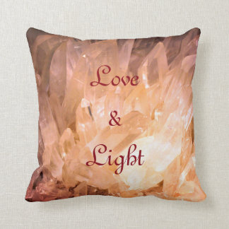 Kristall-Liebe u. heller natürlicher Entwurf Kissen