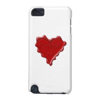 Kristall. Rotes Herzwachs-Siegel mit iPod Touch 5G Hülle