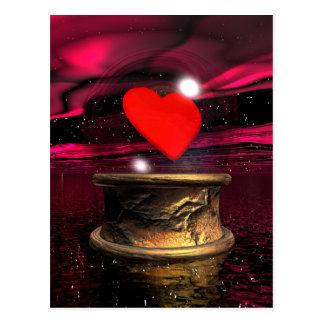 Kristallball für Liebe - 3D übertragen Postkarte