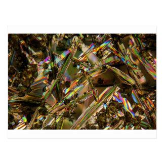 Kristalle/Aluminat unter dem Mikroskop Postkarte