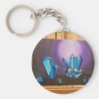 Kristalle auf dem walll in 3d schlüsselanhänger