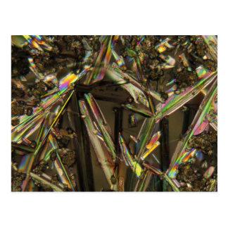 Kristalle unter dem Mikroskop/dem Aluminat Postkarte