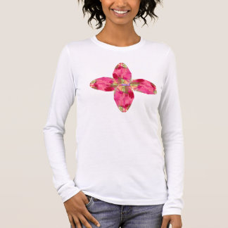 Kristalledelstein: RedRose PinkRose basierte Kunst Langarm T-Shirt