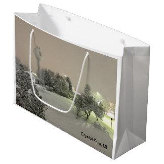 Kristallfälle, MI-Winter-Geschenk-Tasche Große Geschenktüte