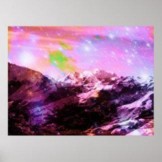 Kristallgipfel-abstraktes Plakat