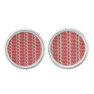 Kristallgitter - rote graue Stulpen-Verbindungen Manschetten Knöpfe