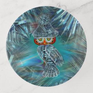 Kristallisierte Winter-Mode-Eule Dekoschale