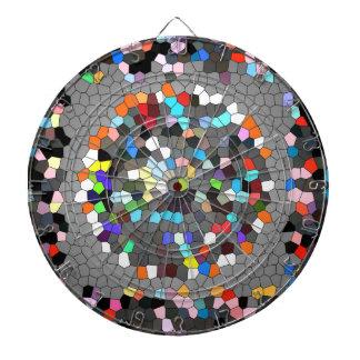Kristallpixel-Punkt-Kunst Dartscheibe
