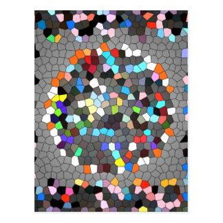 Kristallpixel-Punkt-Kunst Postkarte