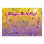 Kristallregen-Regenbogen-alles Gute zum Geburtstag Karte