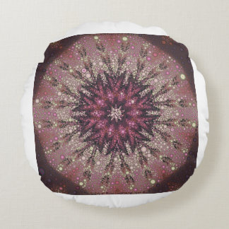 KristallRosen-Kaleidoskop Rundes Kissen