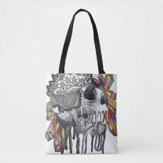 Kristallschädel-Mandala Tasche