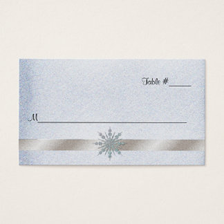 Kristallschneeflocke-Hochzeits-Empfangs-Platzkarte Visitenkarte