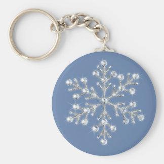 Kristallschneeflocke Keychain Schlüsselbänder