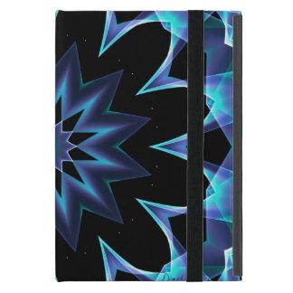 Kristallstern, abstrakter glühender blauer Mandala iPad Mini Hülle