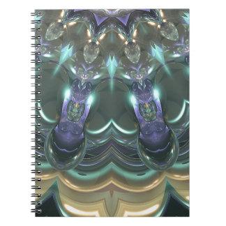 Kristallsun-Reflexionen Notizblock