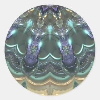 Kristallsun-Reflexionen Runder Aufkleber