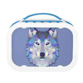 KRISTALLwolf geometrischer Wolf-Kopf Brotdose