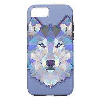 KRISTALLwolf geometrischer Wolf-Kopf iPhone 8/7 Hülle