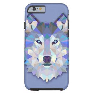 KRISTALLwolf geometrischer Wolf-Kopf Tough iPhone 6 Hülle