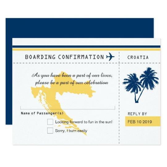 Kroatien-Boarding-Durchlauf UAWG blaue und gelbe Karte