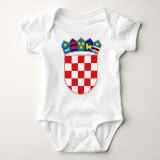 Kroatien-Emblem Baby Strampler
