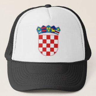 Kroatien-Emblem Truckerkappe