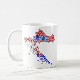 Kroatien eText ~ Flagcolor Karten-Tasse Kaffeetasse