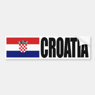 Kroatien-Flagge Autoaufkleber