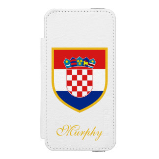 Kroatien-Flagge besonders angefertigt Incipio Watson™ iPhone 5 Geldbörsen Hülle